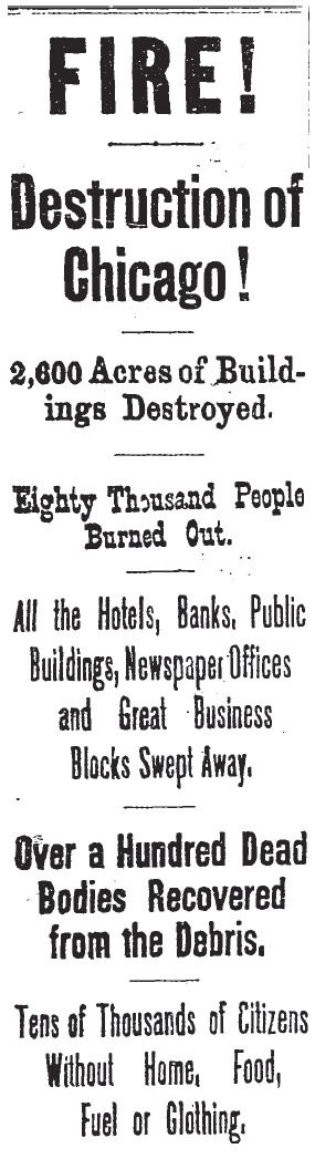 Great chicago fire research paper